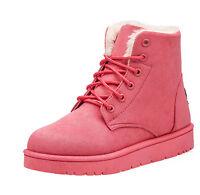 Bottines Fourrure de Neige Femme Hiver Mode Chaussures Montantes Boots à Lacets