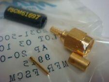 (1) MA-COM 2031-5003-00 SMA RF GOLD CONNECTOR STRAIGHT 50 Ohm RG188/U
