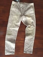 DIESEL THE CHI-PHPOENIX-PATCH TROUERSERS VINTAGE LGHT BROWN PANTS( W 32) 298