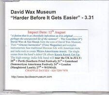 (EK756) David Wax Museum, Harder Before It Gets Easier - DJ CD