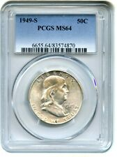 1949-S 50c PCGS MS64 - Popular Key Date - Franklin Half Dollar