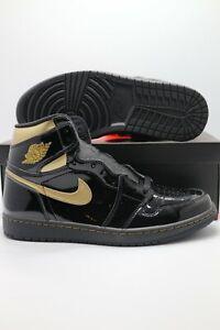Nike Air Jordan 1 Retro High Black Metallic Gold 2020 555088-032 Men's & GS Size