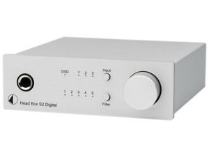 PRO JECT HEAD BOX S2 DIGITAL SILVER AMPLIFICATORE PER CUFFIE DSD DAC G.UFFICIALE