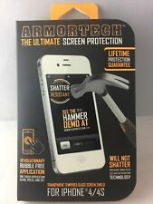 ArmorTech - Ultimate Tempered Glass Screen Protector iPhone 4 4s **FREE S/H**