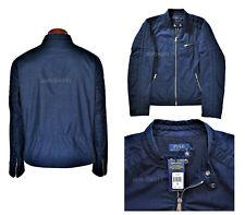 Polo Ralph Lauren Motorcycle Racer Jacket Men's XL/TG Blue Navy NWT $295