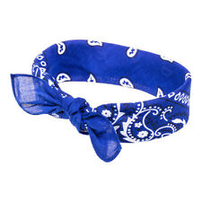 Blue Banana Paisley Dark Blue Bandana - Cotton Scarf Head/Neck Wrap
