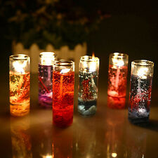 GLASS BOTTLES OCEAN THEME SMOKELESS JELLY WAX WEDDING GEL CANDLES RECOMMENDED