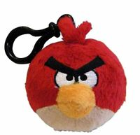 Angry Birds Plush Backpack Clip - Red Bird, New, Commonwealth Toy & Novelty Co.