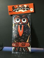Vintage Nos Halloween Owl Decoration Cutout Usa Crepe Paper Wings sealed