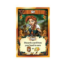 Vikings Gone Wild: Sif Promo Card [Card & Board Game Piece, 2017, Rare Hero] NEW
