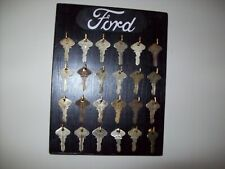 Model T Ford Key Display Original 24 Genuine Ford Keys Script