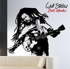 "WALL STICKER Adesivi murali  ""BOB MARLEY"" 100% MADE IN ITALY"