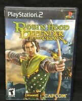 Robin Hood Defender of the Crown PS2 Playstation 2 Game Tested Working Complete