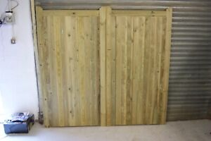Tanalised pair of driveway gates (made to measure available)