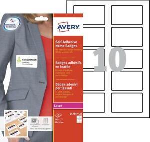 Badges autocollants - Laser AVERY