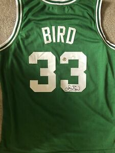 Larry Bird Signed Jersey Dual Authenticated (JSA/Bird Holo)