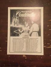 circa 1970's Walt Disney's Cinderella Movie Pressbook Ad Pad