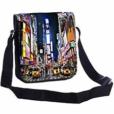 New York Times Square At Night Small Cross-Body Shoulder Bag Handy Size
