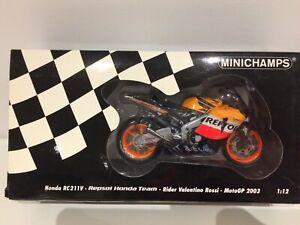 MINICHAMPS 1/12 HONDA RC211V REPSOL VALENTINO ROSSI MOTO GP 2003 122037146