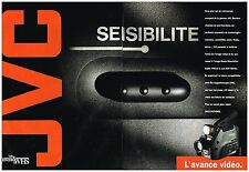 Publicité Advertising 1992 (2 pages) Le camescope JVC