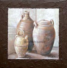 Kirchner: Delightful Pottery Stilleben Bild 40x40 Vasen Landhaus Deko