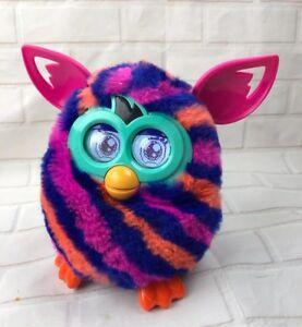Furby Boom Orange Purple Pink Diagonal Stripes Interactive pet Toy