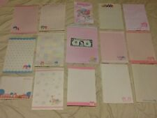 SANRIO LITTLE TWIN STARS STATIONERY LOT 15 BIG SHEETS ALL DIFFERENT