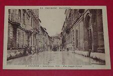 CPA 1935 CARTE POSTALE FRANCE 84 VAUCLUSE AVIGNON INONDATIONS RUE JOSEPH VERNET