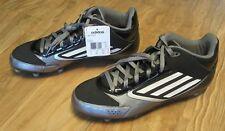 Adidas Men's Lightning D Football Cleats Size 11, Black Gray, New