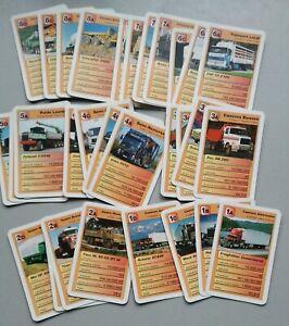 ancien jeu de carte  7 familles camions