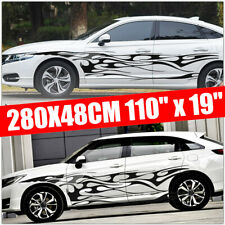 9.2X1.57ft Racing Car Body Graphic Side Stickers Sports Long Stripe Decal Trim