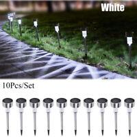 10Pcs Led Solar Lights Outdoor Garden Lawn/Landscape/Path Lights Stainless Steel