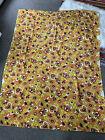 "Vintage Mod Floral Tablecloth Beach Blanket Rectangle Terrycloth 51"" X 69"" Birds"