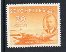 Mint Hinged Single Seychelles Stamps (Pre-1976)