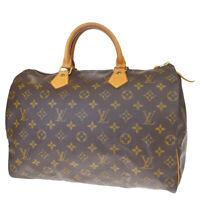 Auth LOUIS VUITTON Speedy 35 Travel Hand Bag Monogram Leather M41524 73MF086