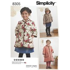 SEWING PATTERN! MAKE GIRLS COAT~2 LENGTHS! JACKET! PRE-QUILTED FABRIC! SIZES 3~8