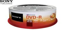 Sony DVD-R 4.7gb 16x velocidad 120min Grabable DVD DISCOS Spindle PACK 25