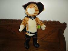Shrek 2 PUSS IN BOOTS Bendable Plush Cat 2003 Beverly Hills Teddy Co 16 inch