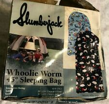 "NIB SLUMBERJACK TODDLER ""WHOOLIE WORM"" 45* SLEEPING BAG (29 X 54"") CAMPING NEW"