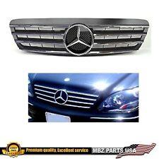00-02 S-Class black grille chrome star AMG S500 S430 S55 emblem parts Mercedes