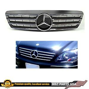 2000 2001 2002 S500 S430 S55 grille black chrome star AMG emblem W220 S-Class