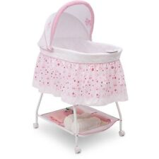 Baby Crib Bassinet Cradle Newborn Girl Pink Infant Princess Nursery Furniture