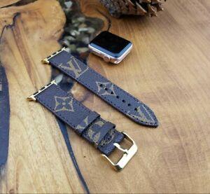 Handmade Louis Vuitton Apple watch band Series 6,5,4,3,2