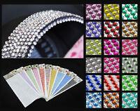 990 Rhinestone Stickers Stick On 4mm Gem Glue Strip Diamante Sparkle Bling beads