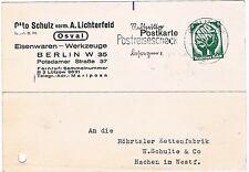 DR Berlin  O 2 MaSt Postreisescheck besorgen O. Schulz Werkzeuge 1934