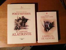 ARTURO PEREZ-REVERTE - El Capitán Alatriste y Limpieza de Sangre. 2 libros