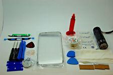 Samsung S7 Edge Argento Kit di Riparazione Vetro Schermo Frontale, Colla Torcia