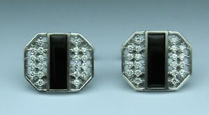 1/2 cttw Men's Diamond designer CUFFLINK set GH VS2SI1 14kt w.gold OUTSTANDING