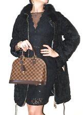 % Persianer Fuchs Mantel Jacke fur coat Pelliccia fox schwarz black wNEU!NEW!