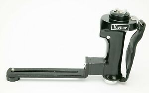 """Vivitar Camera Bracket With Rotating Flash Holder & 20"""" Cable Release. See Pic."""